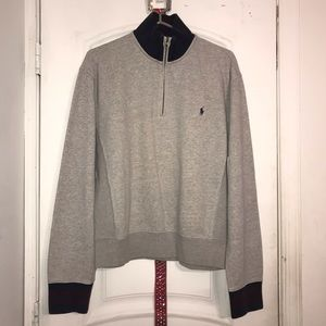 Vintage polo zipper pull over